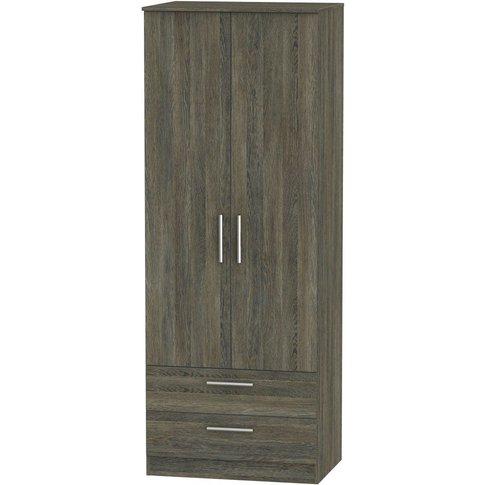 Contrast Panga 2 Door Double Wardrobe - Tall 2ft 6in...