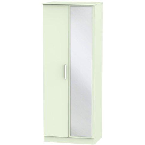 Contrast Vanilla 2 Door Double Wardrobe - Tall 2ft 6...