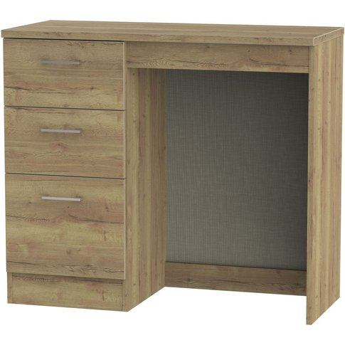 Devon Stirling Oak Dressing Table - Vanity Knee Hole