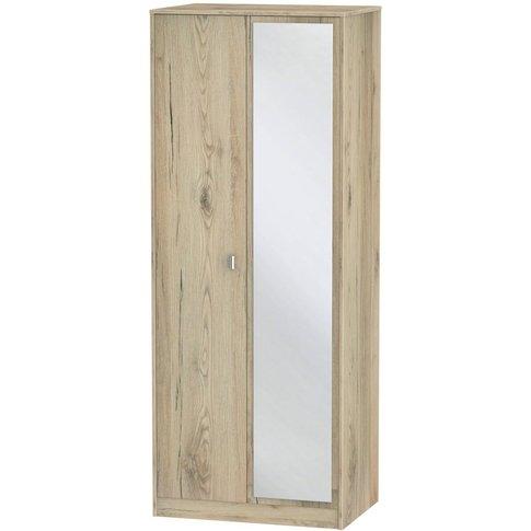Dubai Bordeaux Oak 2 Door Double Wardrobe - Tall 2ft...