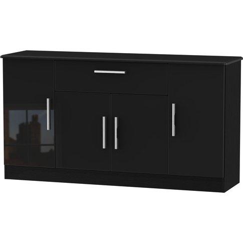 Welcome Living Room Furniture High Gloss Black Sideb...