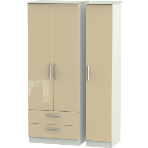 Knightsbridge 3 Door 2 Left Drawer Tall Wardrobe - H...