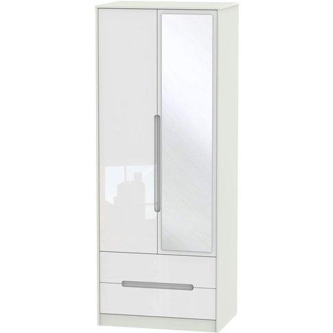 Monaco High Gloss White And Kaschmir 2 Door Double W...