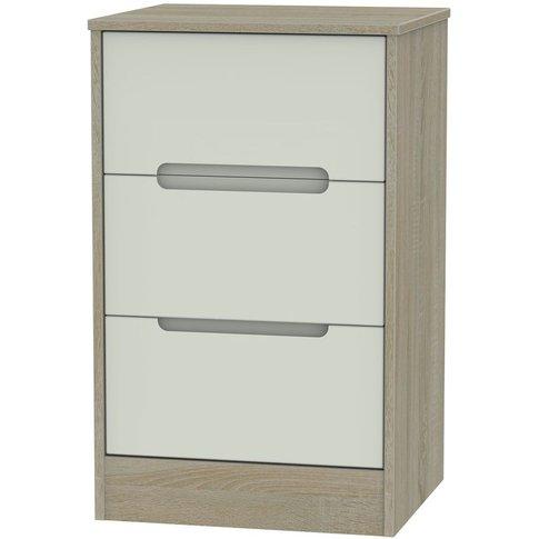 Monaco Kaschmir And Darkolino Bedside Cabinet - 3 Dr...