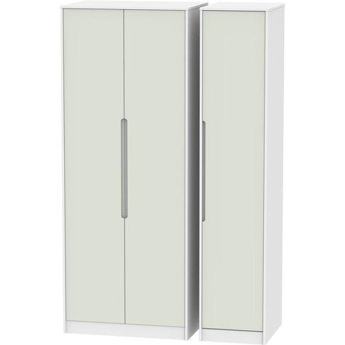 Monaco Kaschmir And White 3 Door Triple Wardrobe - T...