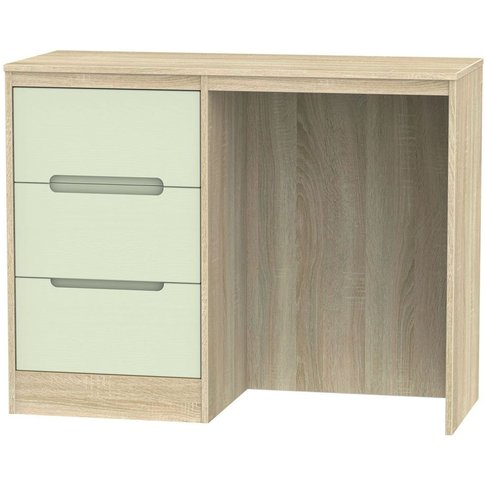Monaco Single Pedestal Dressing Table - Mussel and B...