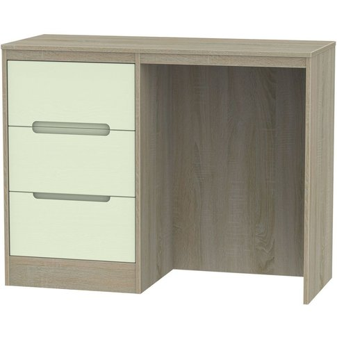 Monaco Single Pedestal Dressing Table - Mussel and D...