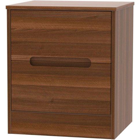 Monaco Noche Walnut 2 Drawer Locker Bedside Cabinet