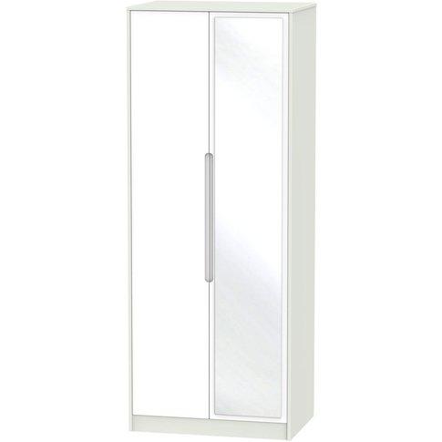 Monaco White And Kaschmir 2 Door Double Wardrobe - T...
