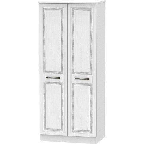 Oyster Bay Signature White 2 Door Plain Wardrobe