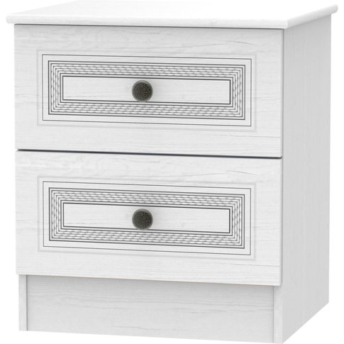 Oyster Bay Signature White 2 Drawer Bedside Cabinet