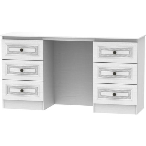 Oyster Bay Signature White Double Pedestal Dressing ...