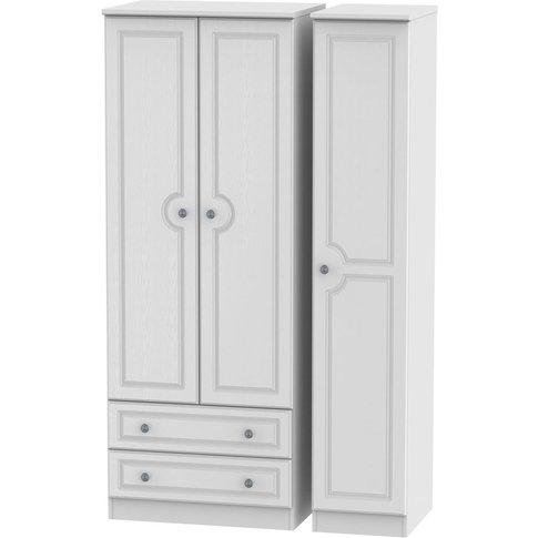 Pembroke 3 Door Triple Wardrobe - Tall With 2 Drawer...