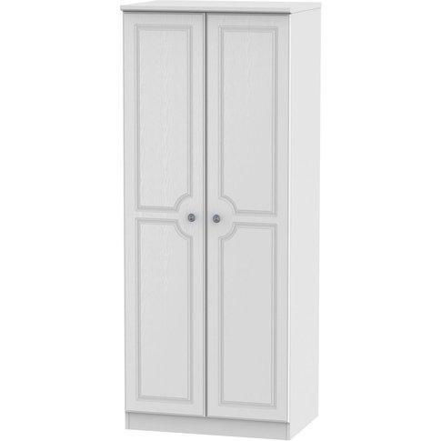 Pembroke Double Wardrobe - 2 Door Plain - White