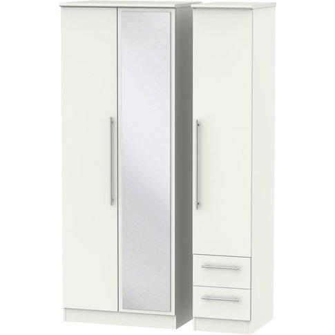 Sherwood Porcelain Matt 3 Door 2 Drawer Tall Mirror ...