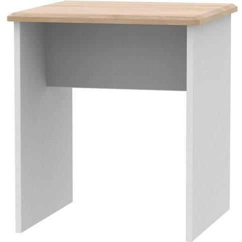 Victoria Lamp Table - Grey And Riviera Oak