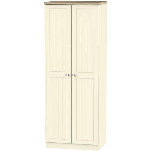 Vienna Cream Ash 2 Door Double Wardrobe - Tall 2ft 6...