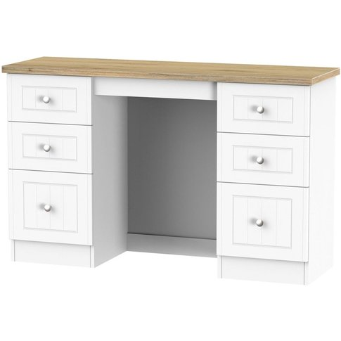 Vienna Porcelain Dressing Table - 6 Drawer Kneehole