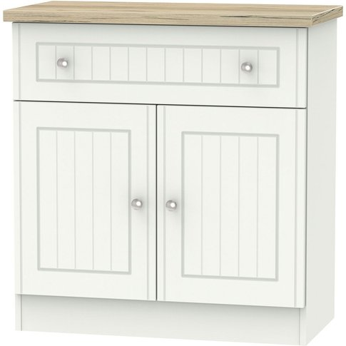 Vienna 2 Door 1 Drawer Narrow Sideboard - Porcelain ...