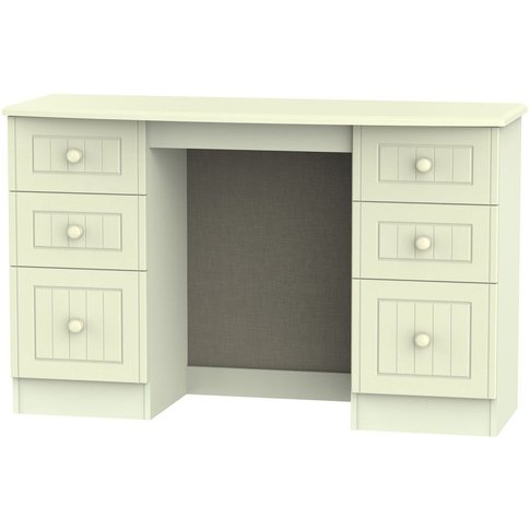 Warwick Cream Dressing Table - Knee Hole Double Pede...