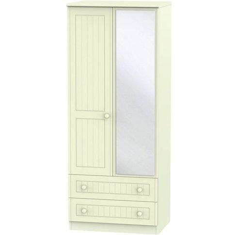 Warwick Cream 2 Door Double Wardrobe - 2ft 6in With ...