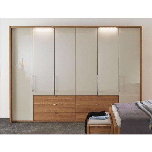 Wiemann Amato 6 Door Bi Fold Wardrobe In Oak And Cha...