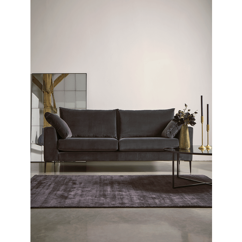 Milano Grand Sofa Swedish Grey Cotton Velvet