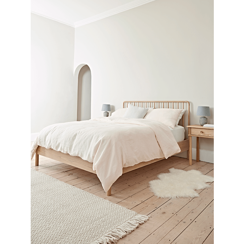 Bergen Oak Kingsize Bed - Natural