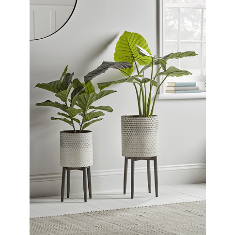 Ombre Whitewashed Standing Planter - Small