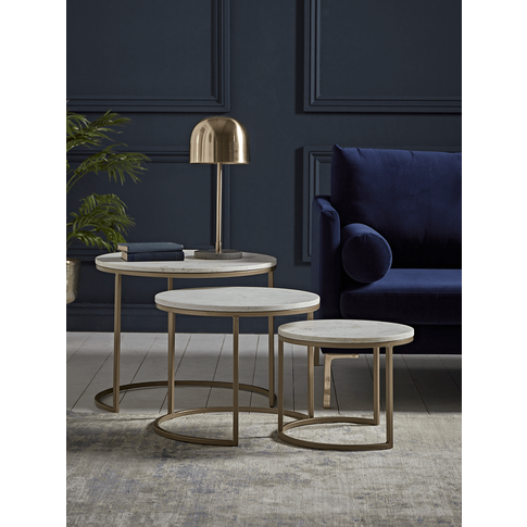 New Three Dita Marble Side Tables