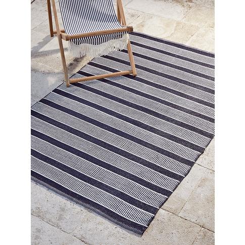 New Indoor Outdoor Coast Rug - Blue Stripe