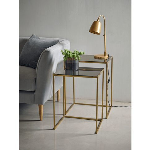 Two Brass Nesting Tables