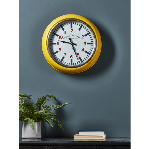 Yellow Gas Station Style Clock