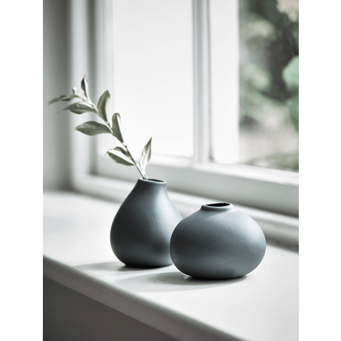 Two Bud Vases - Anthracite