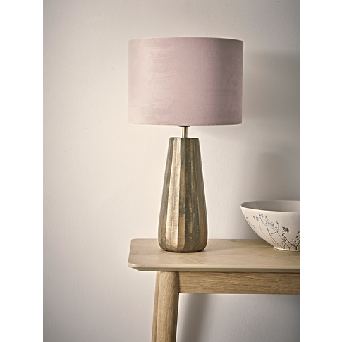 Brass & Blush Tapered Table Lamp