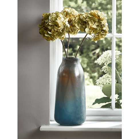 Grey Frosted Lustre Vase