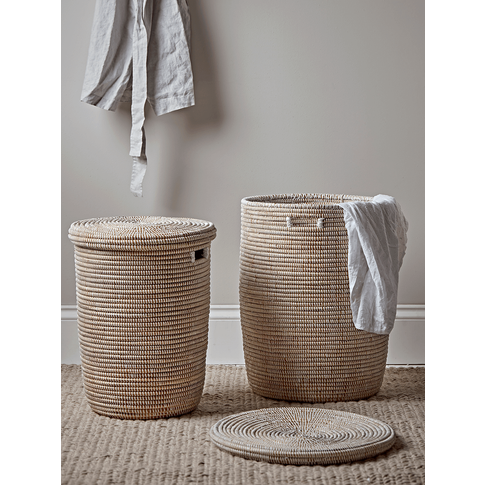 Handwoven Laundry Basket - Medium