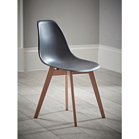 Two Hudson Dining Chairs - Grey