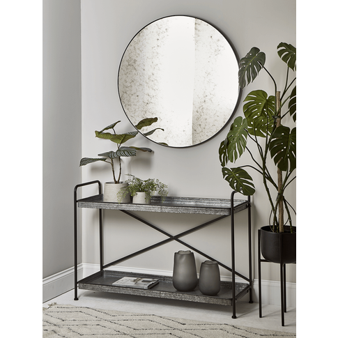 Industrial Zinc Console Table