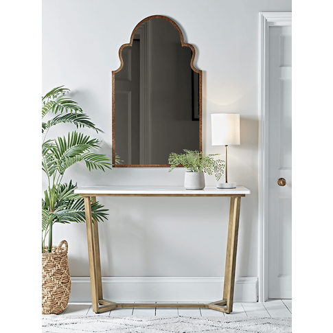 Marble & Brass Console Table