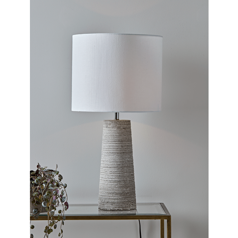 Ribbed Concrete Table Lamp