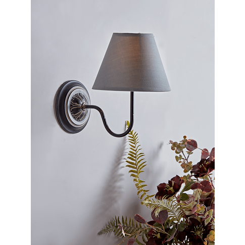 Antique Effect Wall Light - Black