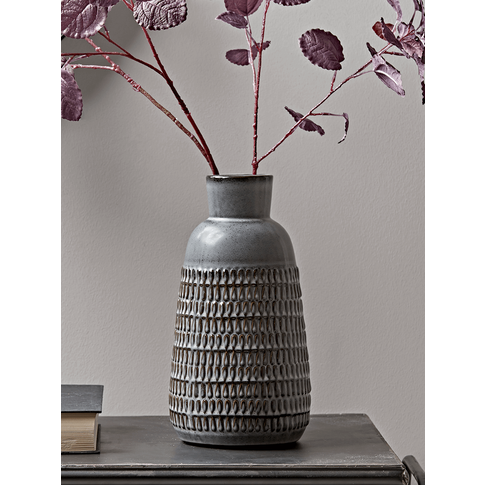 NEW Textured Grey Tapered Vase
