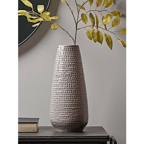 Dash Textured Grey Vase