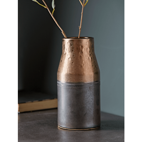 NEW Metallic Dipped Glaze Vase