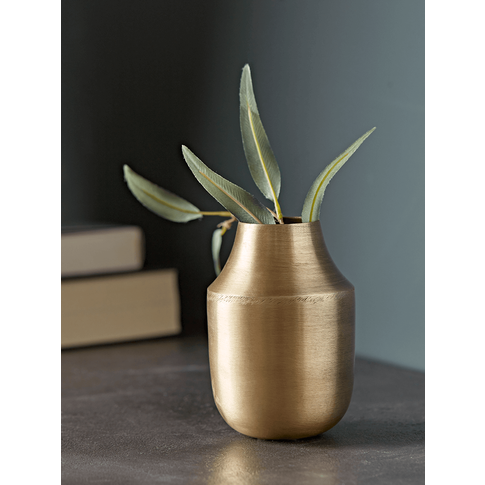 New Brushed Gold Vase - Small