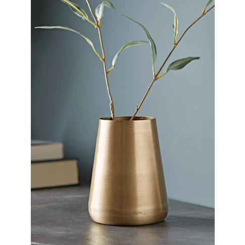 New Brushed Gold Vase - Tall