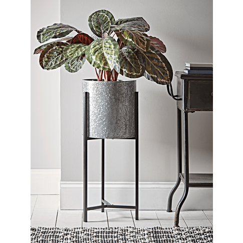 Black Industrial Standing Planter - Large