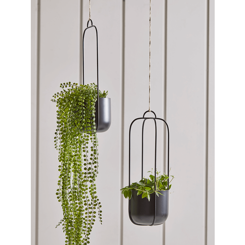 NEW Two Hanging Metal Planters