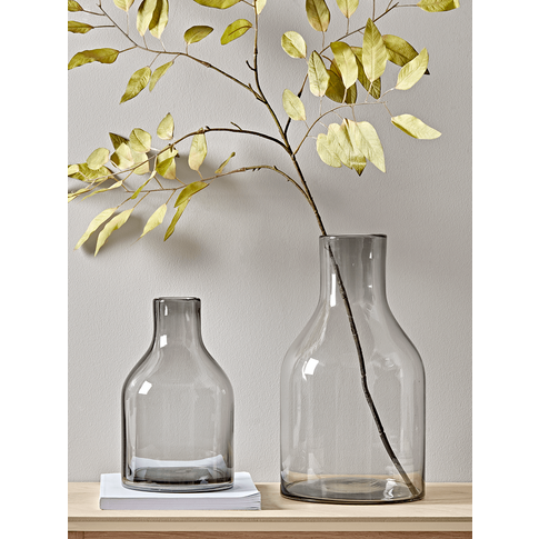 Two Grey Bottle Vases